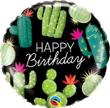 Cactus Happy Birthday ~ 18""