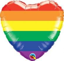 ''18'' Rainbow Heart