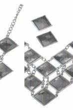 Earrings/Necklace Flapper Ruby
