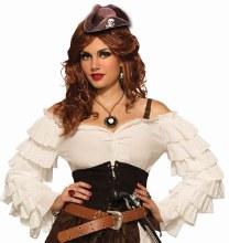 Hat Pirate Mini Brown