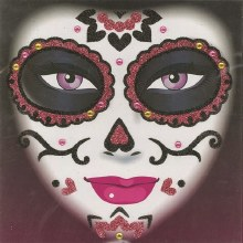 Face Art Day Of The Dead Pink