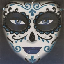 Face Art Day Of The Dead Blue