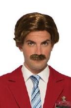 Wig Anchorman w/ Moustache