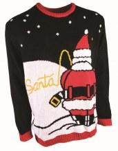 Sweater Santa Peeing