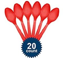 Apple Red Spoons 20ct