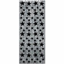 Gleam N Curtain Silver w/Star
