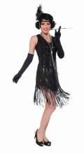 Sequin 20's Dress BLK