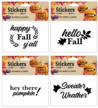 Pumpkin Glitter Stickers