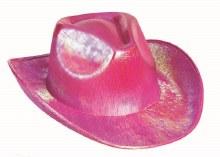 Hat Coowboy  Pink Iridescent
