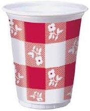 Red Gingham Cup 16oz