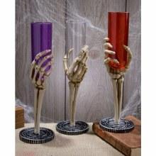 Flute Glass Skeleton Hand