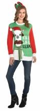 Christmas Llama Sweater ~ PLUS SIZE