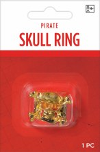 Ring Skull Pirate Gold