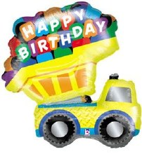Happy Birthday Dump-Truck ~ 33""