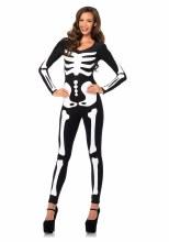 Glow Skeleton Catsuit Lg