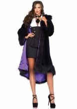 Coat Faux Fur Satin Lined M/L