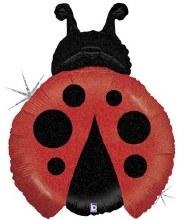 """Jumbo Ladybug Holographic Glitter ~ 27"""""""