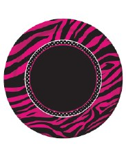 Pink Zebra 7in Plates 8ct