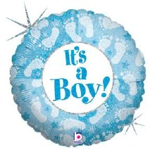 "18"" Holographic Blue ~ It's a Boy!"