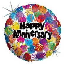 "18"" Happy Anniversary ~ Holographic"