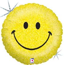 """18"""" Smiley Face ~ Holographic"""