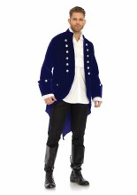 Coat Colonial Velvet Blue L