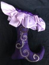 Beaded Stocking ~ Purple