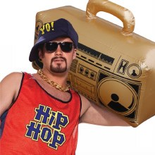 Inflatable Boom Box Gold