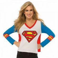 Supergirl Sporty Tee Adult Med