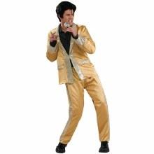 Elvis Gold Satin Dlx Lg