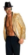 Jacket Sequin Mens Gold L