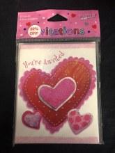 Stitched Hearts Invitations 8pk