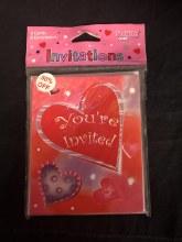 Fun Hearts Invitations 8pk