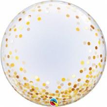 Blln Bubble Deco Gld 24in