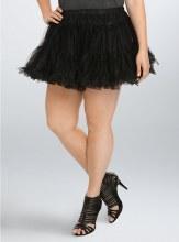 Petticoat Blk Soft 1X/2X