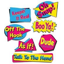 90's Phrase Cutouts