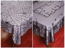 Halloween Lace Tablecloth Asst