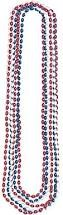 Bead Necklace Red/White/Blue