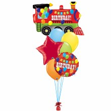 Balloon Bouquet ~ Happy Birthday Party Train ~ Large