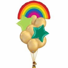 Rainbows Lead to Gold Balloon Bouquet ~ Large