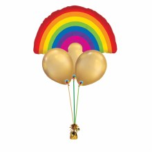 Rainbows Lead to Gold Balloon Bouquet ~ Small