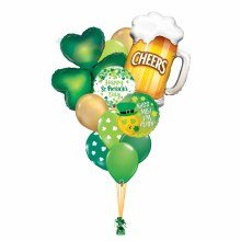 St. Patrick's Day Balloon Bouquet ~ Deluxe