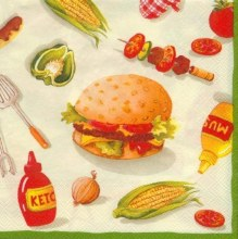 Burger Party Beverage Napkins 20ct