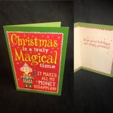 Money Disappear Christmas Card