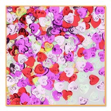 Confetti Embossed Hearts