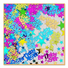 Confetti Birthday Star