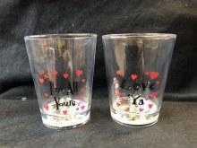 Shotglass Lightup Hearts ~ 1pc