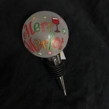 Light Up Bottle Topper ~ Merry Merlot