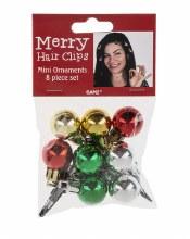 Mini Ornament Hair Clips ~ 8 Pack