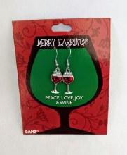Merry Earrings ~ Wine Glasses